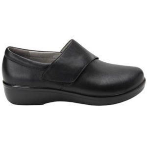TRAQ by Alegria Women's Qin Leather Black Out Shoe